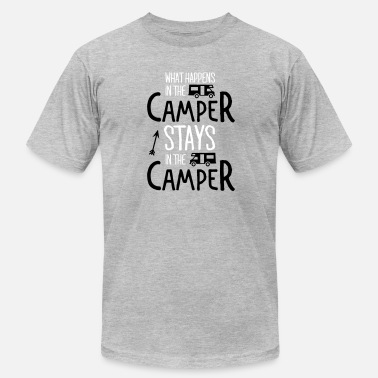 What Happens On Holiday what happens in the camper... - Men's  Jersey T-Shirt