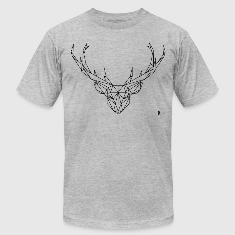 AD Geometric Deer - Men's Fine Jersey T-Shirt