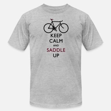 Saddle keep calm and saddle up - Men's  Jersey T-Shirt
