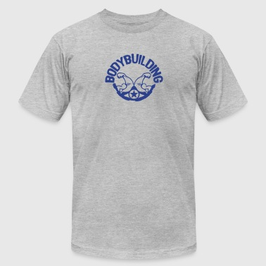 bodybuilding logo 4 arm - Men's Fine Jersey T-Shirt