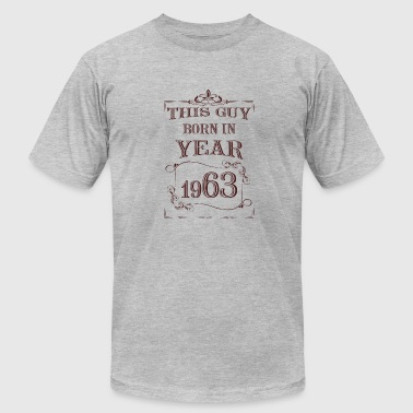 Born Year this guy born in year 1963 - Men's Fine Jersey T-Shirt