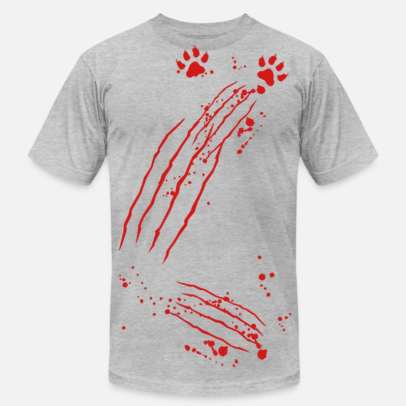 Scratch T-Shirts - scratch marks - Men's Jersey T-Shirt heather gray