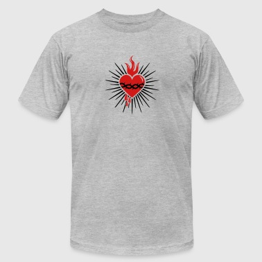 Sacred Heart of Jesus -  Christ Consciousness - Men's Fine Jersey T-Shirt