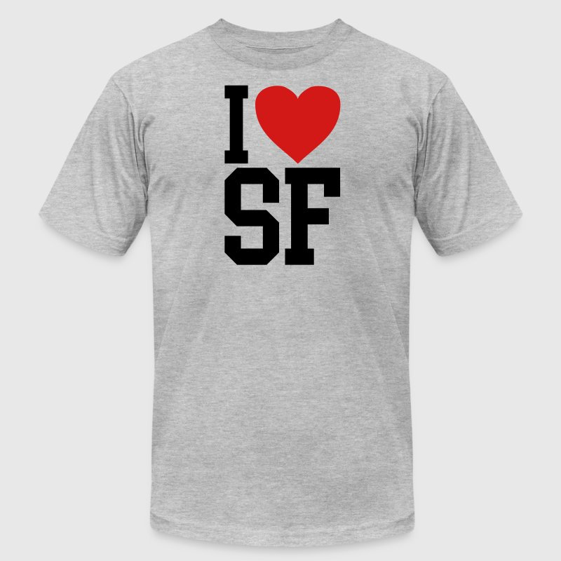 I love SF - Men's Fine Jersey T-Shirt