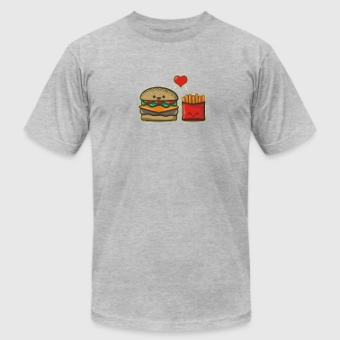 Burger and Fries - Men's Fine Jersey T-Shirt