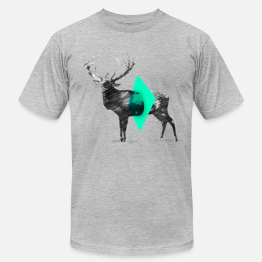 Cut Out Lines Cut Out (Light Green) - Men's  Jersey T-Shirt