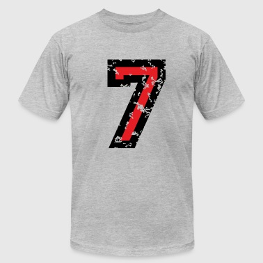 The Number Seven - No. 7 (two-color) red - Men's Fine Jersey T-Shirt