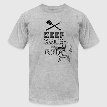KEEP CALM AND BBQ BARBECUE as Vector - Men's Fine Jersey T-Shirt