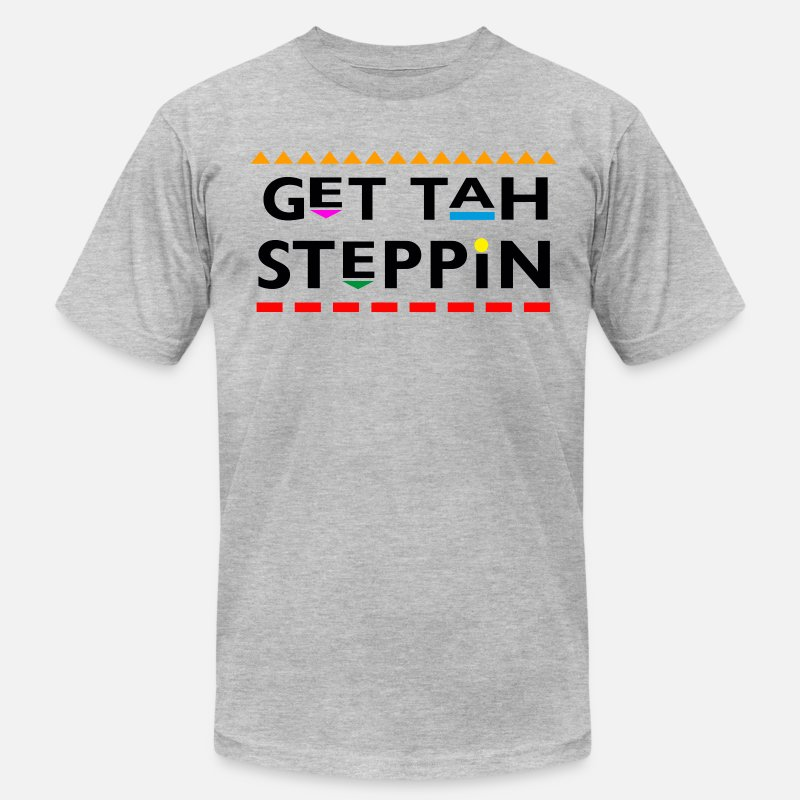 Martin T-Shirts - Get Tah Steppin - Men's Jersey T-Shirt heather gray