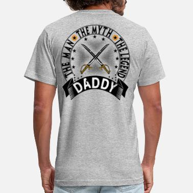 Daddy Legend DADDY THE MAN THE MYTH THE LEGEND - Men's  Jersey T-Shirt