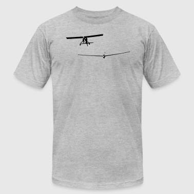 glider pilot with tow pilot - Men's Fine Jersey T-Shirt