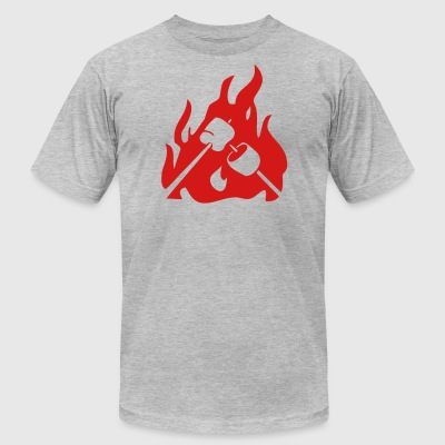 Marshmallow on campfire - Men's T-Shirt by American Apparel