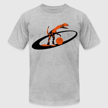 dinosaur basketball - Men's Fine Jersey T-Shirt