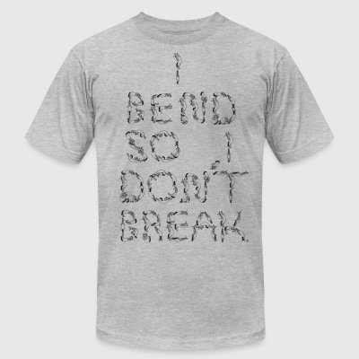 I Bend So I Dont Break Unicorn Letters Black - Men's T-Shirt by American Apparel