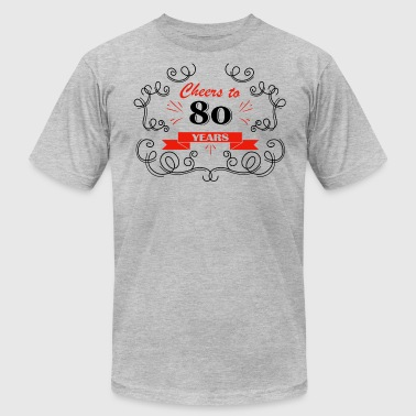 Cheers to 80 years - Men's Fine Jersey T-Shirt