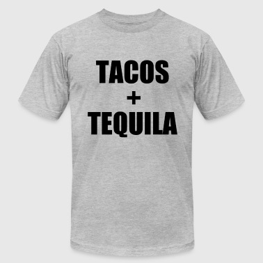 Tacos and Tequila funny saying shirt - Men's Fine Jersey T-Shirt
