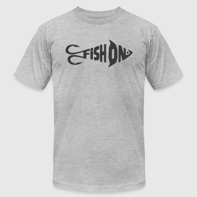 Funny Fishing - Men's T-Shirt by American Apparel