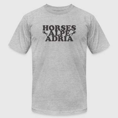Horses Alpe Adria - Men's T-Shirt by American Apparel