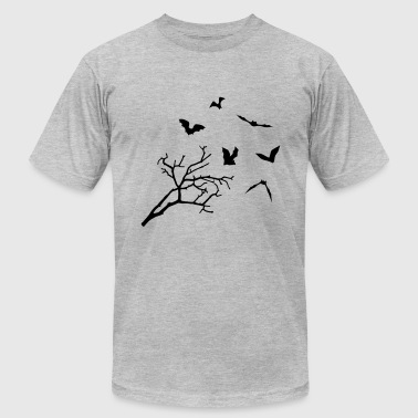 Bats & Tree, Bat Horror - Men's Fine Jersey T-Shirt