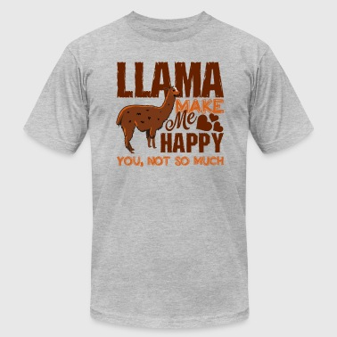 Llamas Make Me Happy Shirt - Men's Fine Jersey T-Shirt