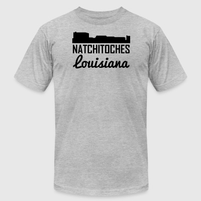 Natchitoches Louisiana Skyline - Men's T-Shirt by American Apparel