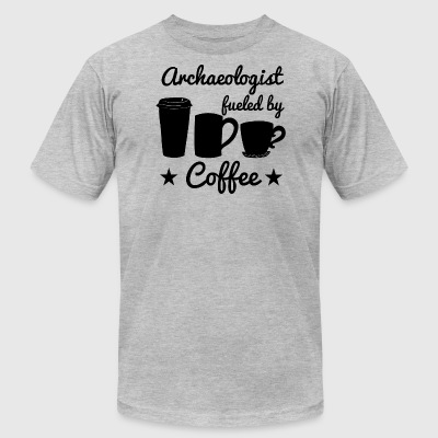 Archaeologist Fueled By Coffee - Men's T-Shirt by American Apparel