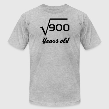 Square Root Of 900 30 Years Old - Men's T-Shirt by American Apparel