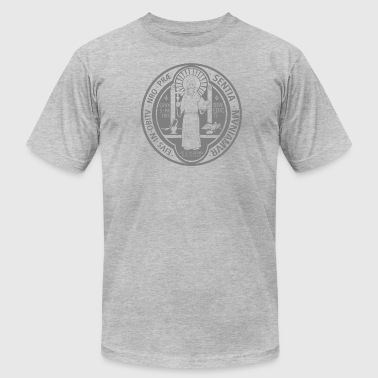 St. Benedict Medal - Men's T-Shirt by American Apparel