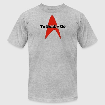 To Boldly Go - Men's T-Shirt by American Apparel