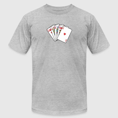 Playing Cards - Men's T-Shirt by American Apparel
