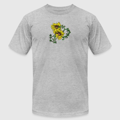 yellow_sunflowers - Men's T-Shirt by American Apparel