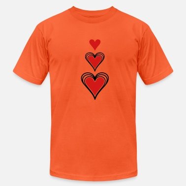 Concentration Concentric Hearts - Unisex Jersey T-Shirt
