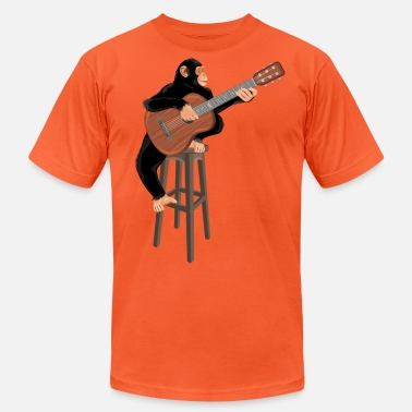 Guitar Monkey with guitar - Unisex Jersey T-Shirt
