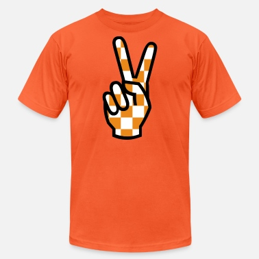 Knoxville Peace Sign Checkerboard - Unisex Jersey T-Shirt