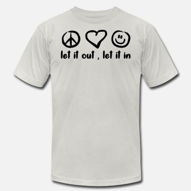 Peace Love Happiness PEACE LOVE HAPPINESS - Men's  Jersey T-Shirt