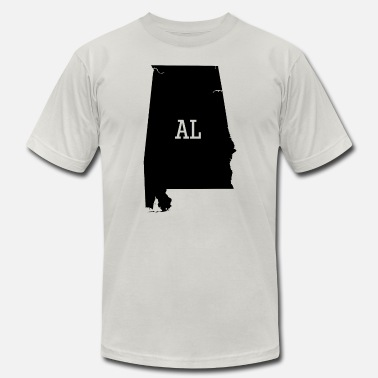 The Yellowhammer State Alabama State Silhouette AL Abbreviation - Men's  Jersey T-Shirt