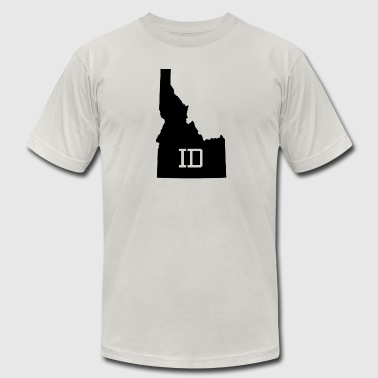 Idaho State Map ID Abbreviation - Men's Fine Jersey T-Shirt
