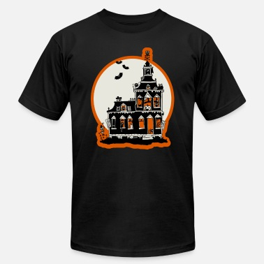 Haunted Vintage haunted house - Unisex Jersey T-Shirt