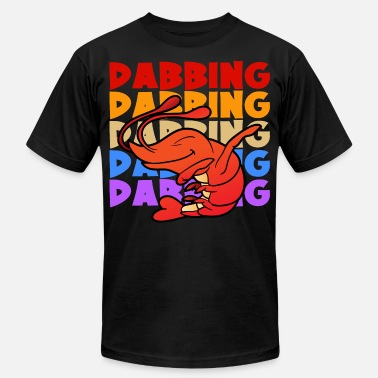 Shrimp Retro Vintage Pop Art Style Dabbing Dab Shrimp - Men's Jersey T-Shirt