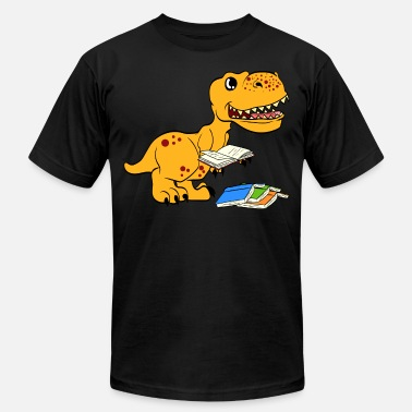 Comic Book Gift Tee With An Illustration Of A Cute Dinosaur - Men's Jersey T-Shirt