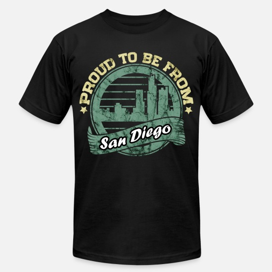 Beach T-Shirts - San Diego - Men's Jersey T-Shirt black