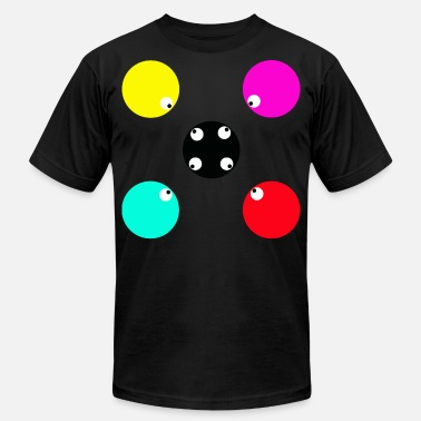 5 Point 5 Lucky Points Eyes colourful colour gift - Men's  Jersey T-Shirt