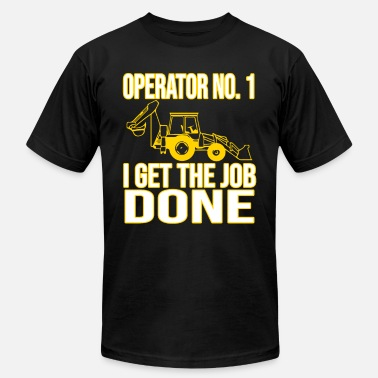 Construction Site Excavator Construction Site Appointment - Men's  Jersey T-Shirt
