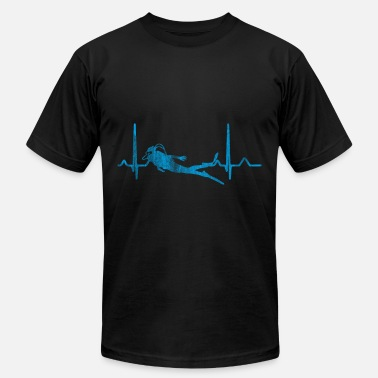 Diving Heartbeat Diving Heartbeat - Men's Jersey T-Shirt