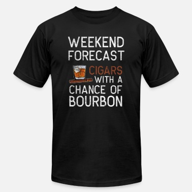 Weekend cigar smoker bourbon whisky lover Gift - Men's Jersey T-Shirt