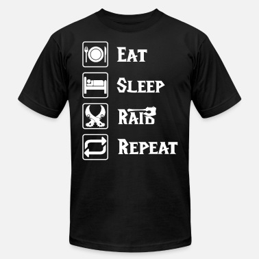 Multiplayer Eat sleep raid repeat online game gift blizzard - Unisex Jersey T-Shirt