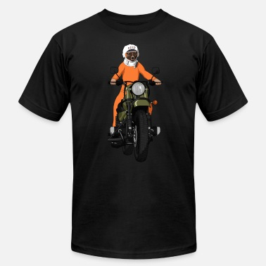 Soviet The first dog in space Laika on motorbike - Unisex Jersey T-Shirt