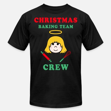 Team Christmas Christmas Baking Team Crew Angel - Men's  Jersey T-Shirt