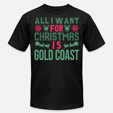 Gold Coast All I Want For Christmas Gold Coast Holidays - Men's  Jersey T-Shirt