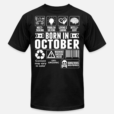 Born In October Tshirt - Unisex Jersey T-Shirt
